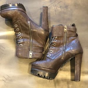 All Saints Balfour Boots dark brown leather 38